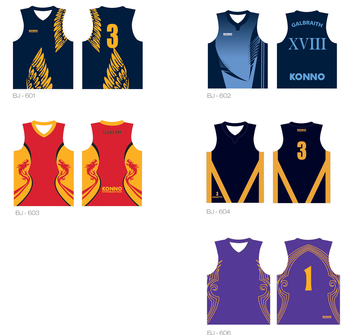 Konno Performance Basketball Jerseys